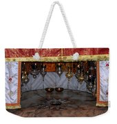 Bethlehem - Nativity Church - Silver Star Weekender Tote Bag