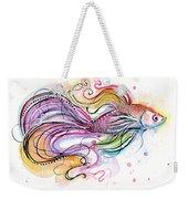 Betta Fish Watercolor Weekender Tote Bag