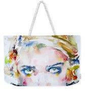 Bette Davis - Watercolor Portrait Weekender Tote Bag