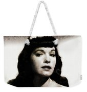 Bettie Page, Pinup Model Weekender Tote Bag