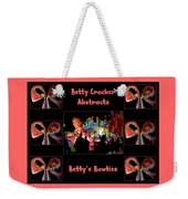 Betty Crocker's Abstracts - Betty's Bowties Weekender Tote Bag