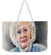 Betty White In Boston Legal Weekender Tote Bag