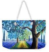 Between The Lavender Fields Weekender Tote Bag