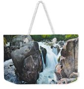 Betws-y-coed Waterfall In North Wales Weekender Tote Bag