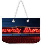 Beverly Shores Indiana Depot Neon Sign Panorama Weekender Tote Bag