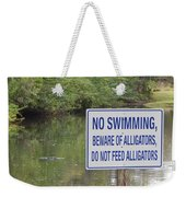 Beware Of Alligators Weekender Tote Bag