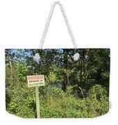 Beware Of Gator Weekender Tote Bag