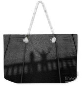 Beware Of The Shadows Black And White Weekender Tote Bag