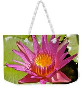 Beyond Beautiful Water Lily 3 Weekender Tote Bag