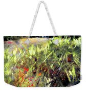 Beyond The Red Flowers Weekender Tote Bag
