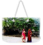 Bff Best Friends Pregnant Women Portrait Village Indian Rajasthani 1 Weekender Tote Bag