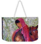 Bhutan Series - Woman With The Horse Weekender Tote Bag