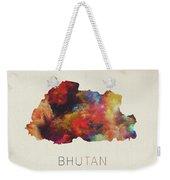 Bhutan Watercolor Map Weekender Tote Bag