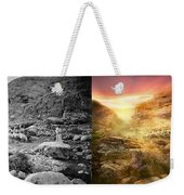 Bible - Psalm 23 - Yea, Though I Walk Through The Valley 1920 - Side By Side Weekender Tote Bag