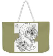 Bichon Frise And Pup Weekender Tote Bag