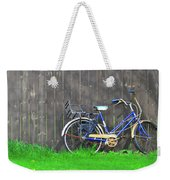 Bicycle And Gray Fence Weekender Tote Bag