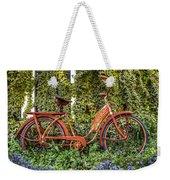 Bicycle In The Garden Weekender Tote Bag