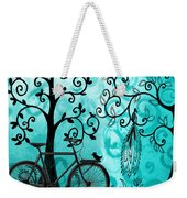 Bicycle In Whimsical Forest Weekender Tote Bag