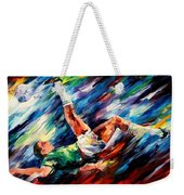 Bicycle Kick Weekender Tote Bag