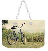 Bicycle On Beach Summer's On The Coast Weekender Tote Bag