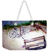 Bicycle On The Beach Weekender Tote Bag