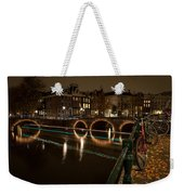 Bicycle Parked At The Canals Weekender Tote Bag