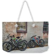 Bicycle Parking Weekender Tote Bag