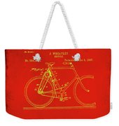 Bicycle Patent Drawing 4c Weekender Tote Bag