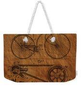 Bicycle Patent From 1890 Weekender Tote Bag