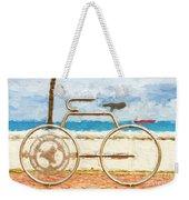 Seaside Bicycle Stand Weekender Tote Bag