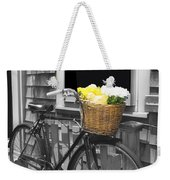 Bicycle With Flower Basket Weekender Tote Bag
