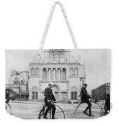 Bicycling, 1880s Weekender Tote Bag