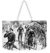 Bicyclist Meeting, 1884 Weekender Tote Bag