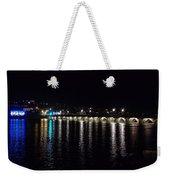 Bideford Long Bridge At Night Weekender Tote Bag
