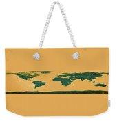 Big Abstract World Map  Weekender Tote Bag