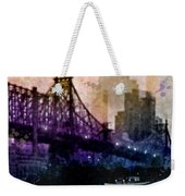 Big Apple Shadows Weekender Tote Bag