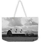 Big Barn In Black And White Weekender Tote Bag
