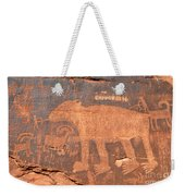 Big Bear Petroglyph Weekender Tote Bag