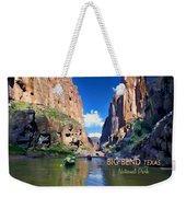 Big Bend Texas National Park Mariscal Canyon Weekender Tote Bag