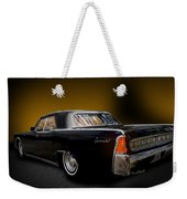 Big Black Lincoln Rag Top Weekender Tote Bag