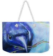 Big Blue Bird Weekender Tote Bag