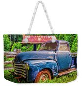 Big Blue Chevy At The Farm Weekender Tote Bag