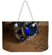 Big Blue Ornamented Ring Weekender Tote Bag