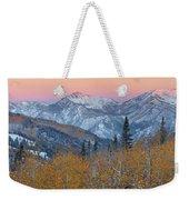 Big Cottonwood Canyon Wasatch Sunrise Weekender Tote Bag