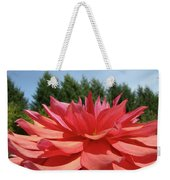 Big Dahlia Flower Blooming Summer Floral Art Prints Baslee Troutman Weekender Tote Bag