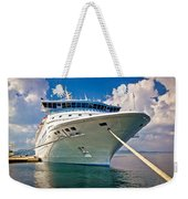 Big Docked Cruise Ship View Weekender Tote Bag