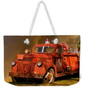 Big Fire - Old Fire Truck Weekender Tote Bag