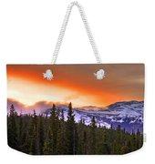 Big Horn Sunset Weekender Tote Bag