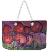 Big Love Poppies Weekender Tote Bag
