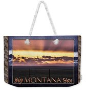 Big Montana Sky Weekender Tote Bag